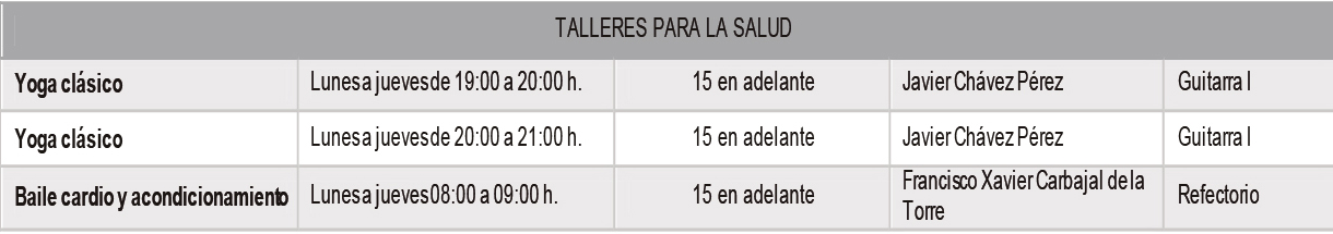 talleres salud