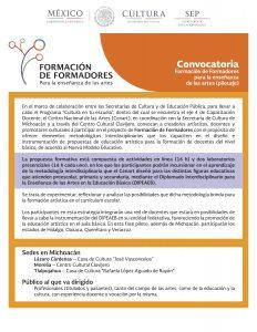 Michoacan - Convocatoria FdF CENART (1)